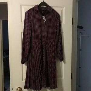 Banana republic pleated waist shirt dress